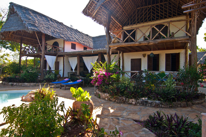 Family Friendly Tropical Villa on the beach in Zanzibar